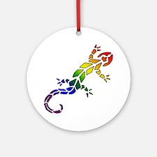 Rainbow Lizard Ornament (Round)