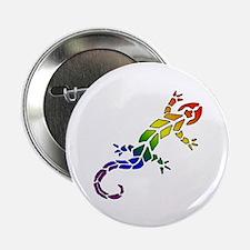 "Rainbow Lizard 2.25"" Button"