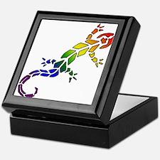 Rainbow Lizard Keepsake Box