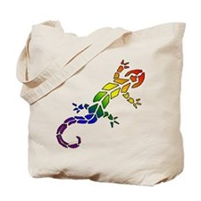 Rainbow Lizard Tote Bag