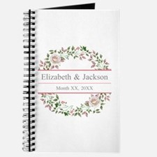 Floral Wreath Wedding Monogram Journal