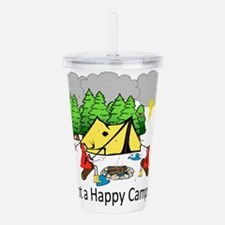 Not a Happy Camper Acrylic Double-wall Tumbler