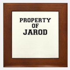 Property of JAROD Framed Tile