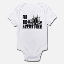 Trucker-Hammer Down-Blk Infant Bodysuit