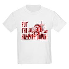 Trucker-Hammer Down-Red T-Shirt