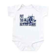 Trucker-Hammer Down-Blue Infant Bodysuit