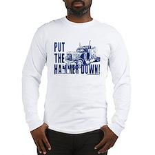 Trucker-Hammer Down-Blue Long Sleeve T-Shirt