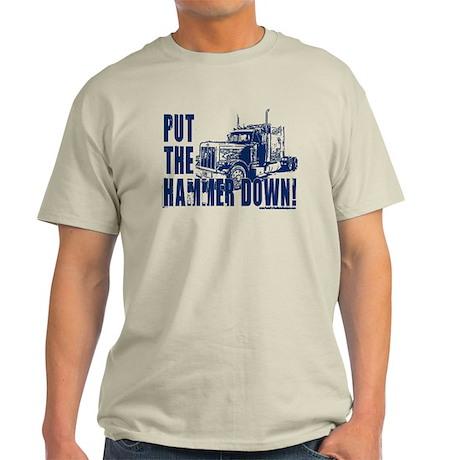 Trucker-Hammer Down-Blue Light T-Shirt