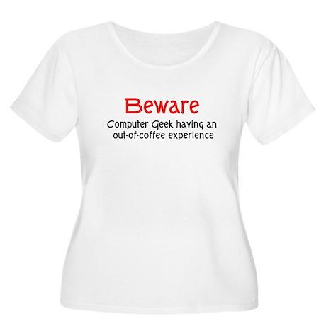 Computer Geek Women's Plus Size Scoop Neck T-Shirt