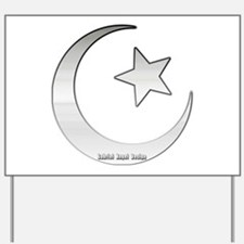 Silver Star and Crescent Yard Sign