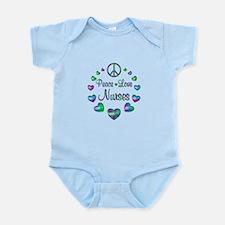 Peace Love Nurses Infant Bodysuit