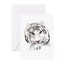 White Bengal Tiger Greeting Cards (Pk of 20)