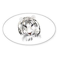 White Bengal Tiger Decal