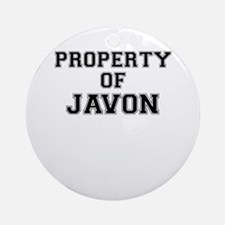 Property of JAVON Round Ornament