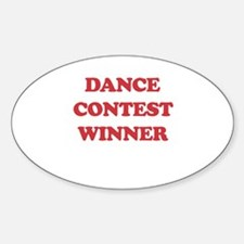 Dance Contest Winner Oval Decal