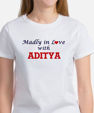 Madly in love with Aditya T-Shirt