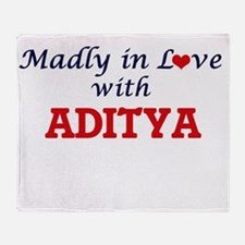 Madly in love with Aditya Throw Blanket