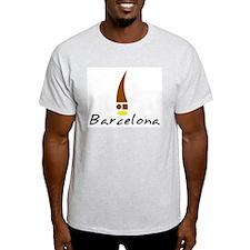 Barcelona II Ash Grey T-Shirt