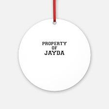 Property of JAYDA Round Ornament