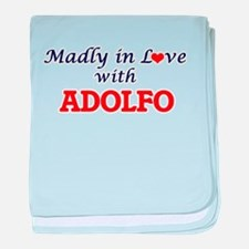 Madly in love with Adolfo baby blanket