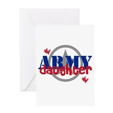 Army Daughter with Star Greeting Card