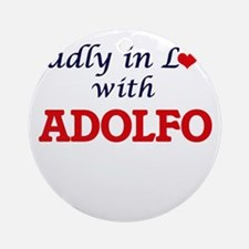 Madly in love with Adolfo Round Ornament