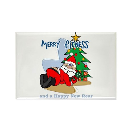 Merry Fitness Rectangle Magnet (100 pack)