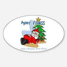 Merry Fitness Oval Decal