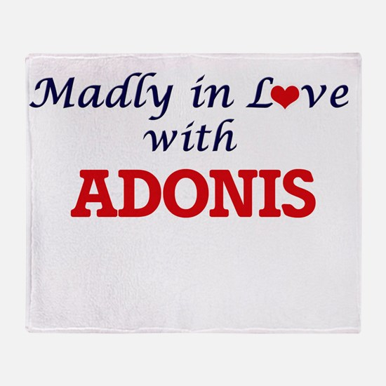 Madly in love with Adonis Throw Blanket