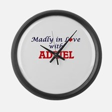 Madly in love with Adriel Large Wall Clock