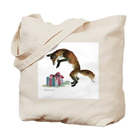 Fox and Present Tote Bag