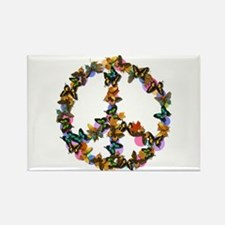 Butterflies Peace Sign Rectangle Magnet