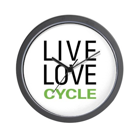 Live Love Cycle Wall Clock