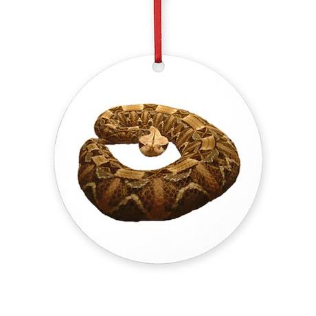 gaboon viper Ornament (Round)