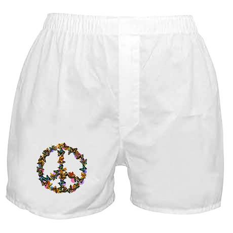 Butterflies Peace Sign Boxer Shorts