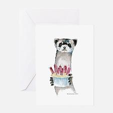 Birthday Ferret Greeting Card