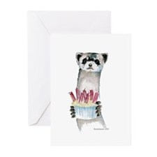 Birthday Ferret Greeting Cards (Pk of 10)