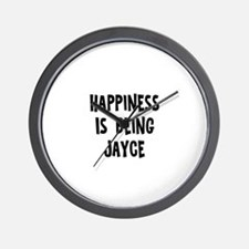 Happiness is being Jayce Wall Clock