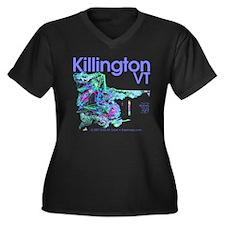 Killington Resort Women's Plus Size V-Neck Dark T-