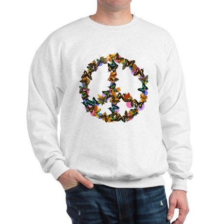 Butterflies Peace Sign Sweatshirt