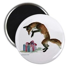 """Fox and Present 2.25"""" Magnet (10 pack)"""