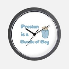 Preston is a Bundle of Boy Wall Clock