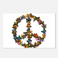 Butterflies Peace Sign Postcards (Package of 8)