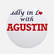 Madly in love with Agustin Round Ornament
