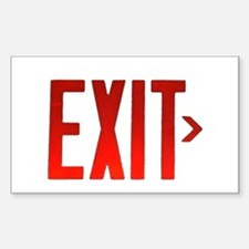 Exit Rectangle Decal