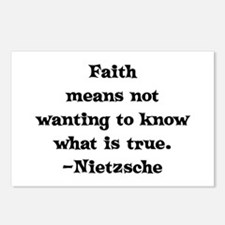 Faith means not wanting to kn Postcards (Package o