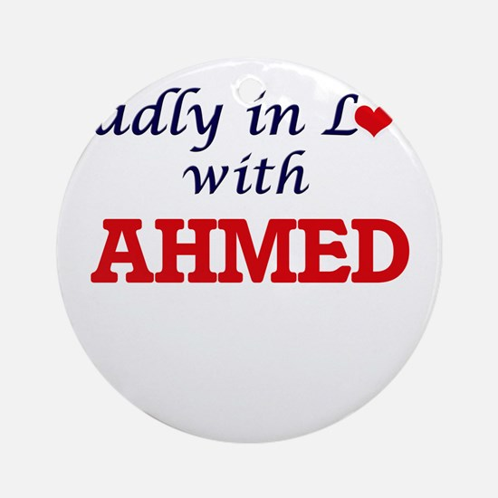 Madly in love with Ahmed Round Ornament