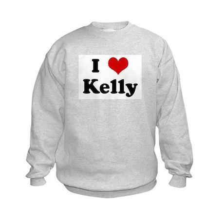 I Love Kelly Kids Sweatshirt