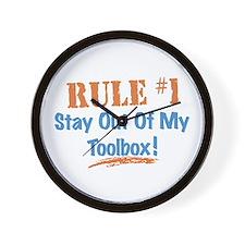 Toolbox Rules Wall Clock