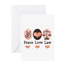 Peace Love Law School Lawyer Greeting Card